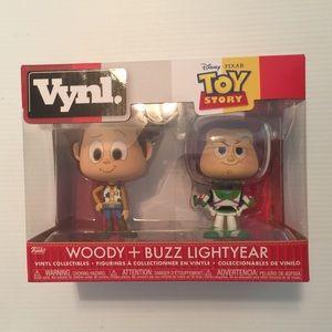 Toy Story 'Vynl' Woody + Buzz Lightyear NWT